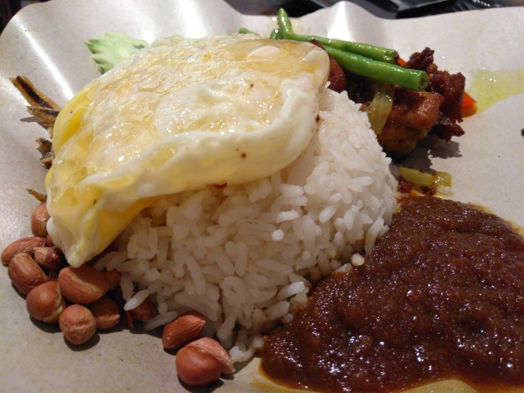 Nasi lemak on the way @ On The Way Kopitiam
