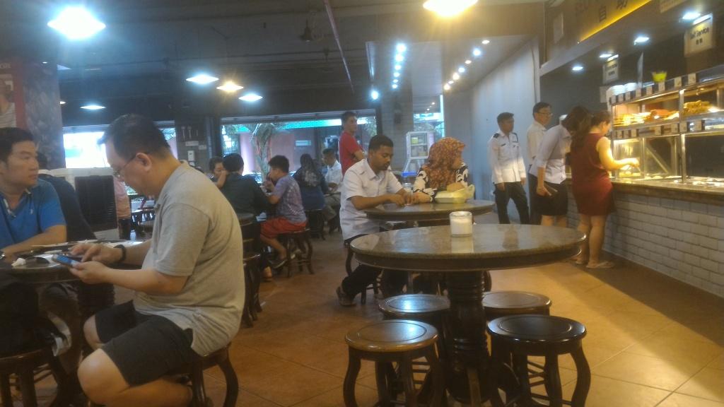 Fluffy white bread and the signature milk tea @ Fook Yuen, Kota Kinabalu