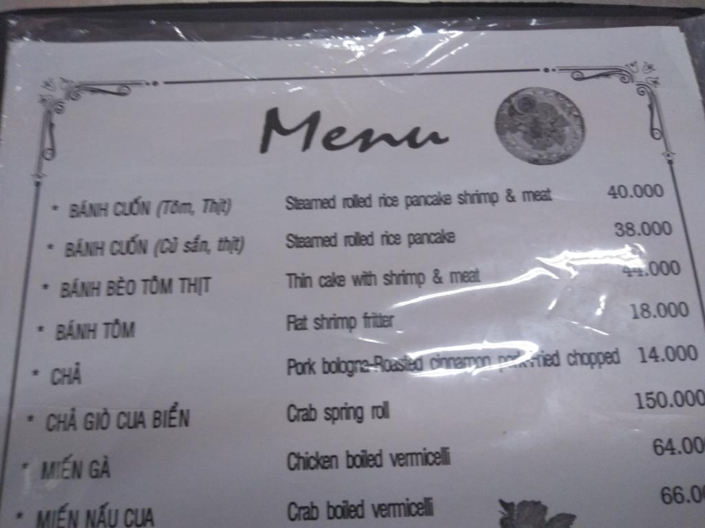 Bánh cuốn (Steamed Rolled Rice Pancake Shrimp & Meat) @ Bánh cuốn Hải Nam