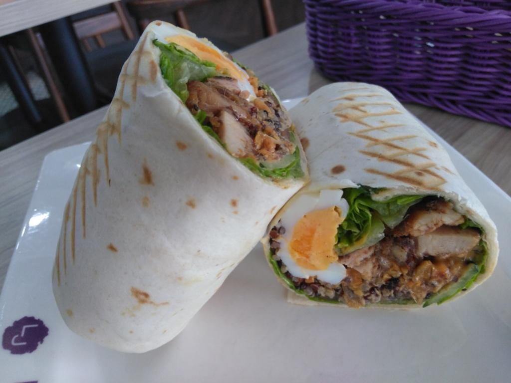 Nasi Lemak Wrap @ La Juiceria Superfoods