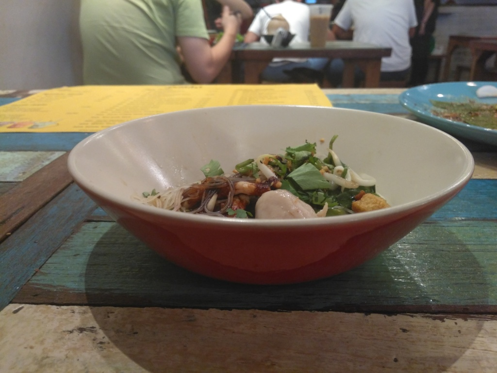 Grilled Pork with Signature sauce, Dry Meehon @ The Porki Society