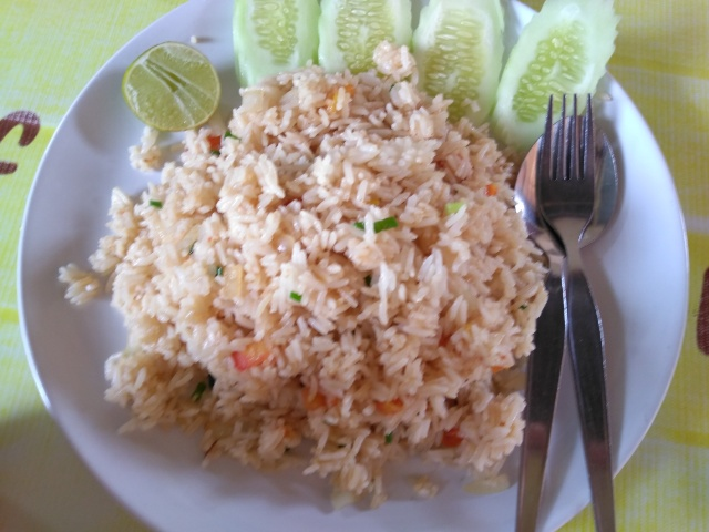 Fried Rice with Mixed Vegetables @ Friendly Kitchen Thai Food