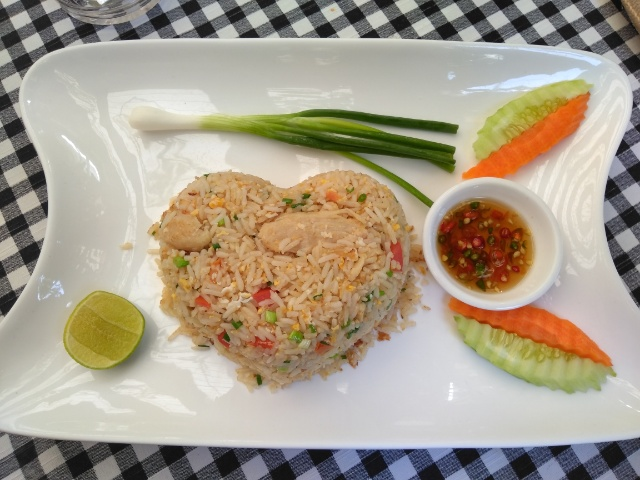 Fried Rice with Chicken, Blueberry Yogurt Ice Cream @ Pony café