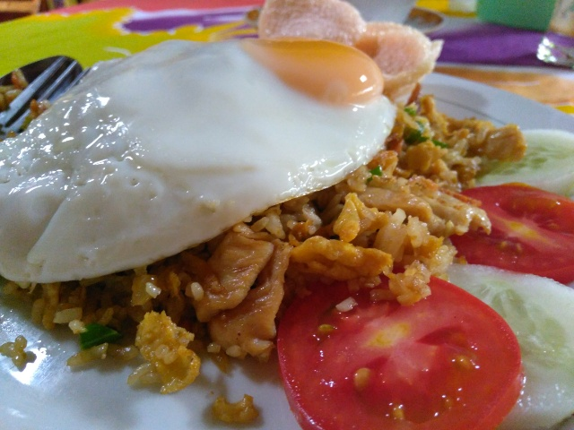Special fried rice, Yogurt with honey, Fresh mixed fruie juice @ Today's Cafe