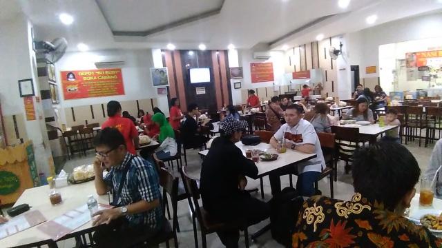 Nasi Udang Empal Bu Ruby, Tea Pucuk @ Depot Bu Rudy
