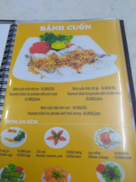 Banh Cuon (Steamed Rice Rolls) @ Bánh Cuốn Gia Truyền Thanh Vân