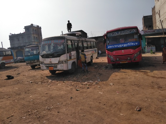 ネパールのカトマンズからインドのブッダガヤまでのバスの道のり