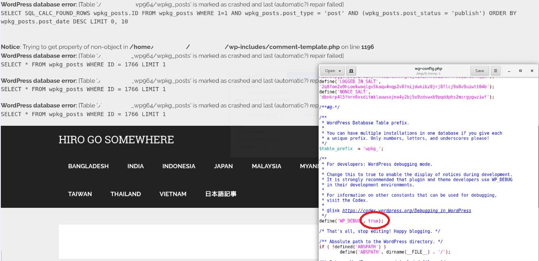 WordPressが真っ白。データが消えた。復旧は?