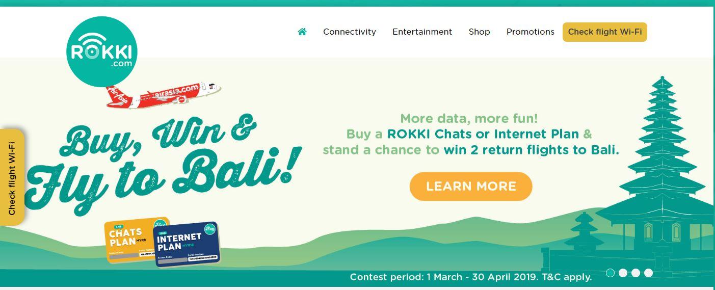 格安航空会社エアアジアの機内Wifiサービス ROKKI